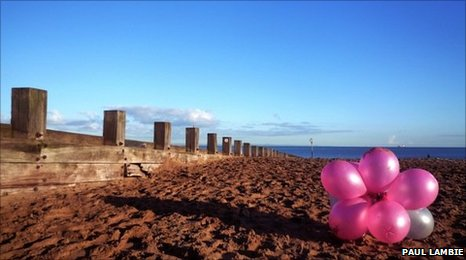 Portobello Beach and balloons, photo courtesy of Paul Lambie