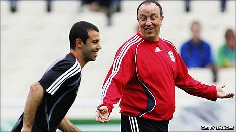 Javier Mascherano and Rafael Benitez