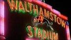 Walthamstow dog track sign. Photo Clark Ainsworth
