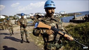 UN peacekeepers in North Kivu province, DR Congo (18 August 2010)