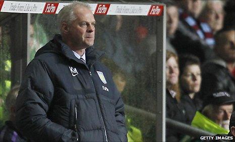 Villa's caretaker boss Kevin MacDonald
