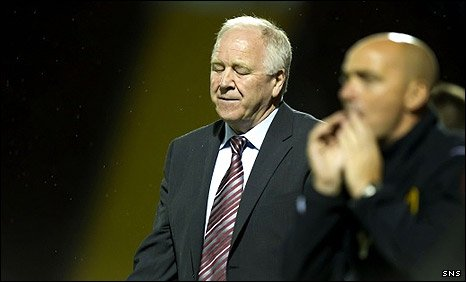 Motherwell manager Craig Brown realises his team is heading out