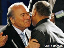 Sepp Blatter and Mohamed Bin Hammam