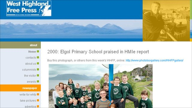 West Highland Free Press website