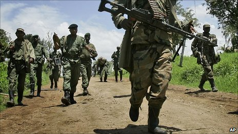 Congolese rebels pictured north of Goma in November 2008