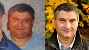 John Parish before, left, and after gastric band surgery