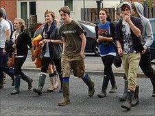 Reading Festival goers