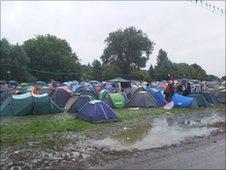 Flooded festival