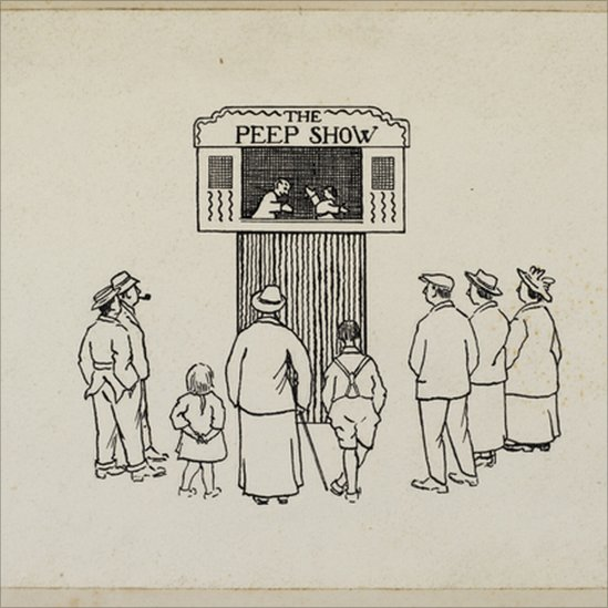Illustration of a performance of Walter Wilkinson's The Peep Show, 1927