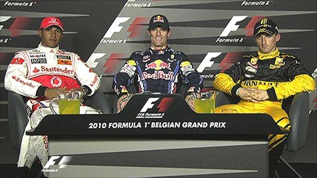 Lewis Hamilton, Mark Webber & Robert Kubica