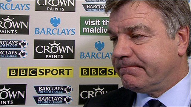 Blackburn manager Sam Allardyce