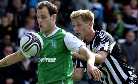 Anthony Stokes (left) in action against St Mirren