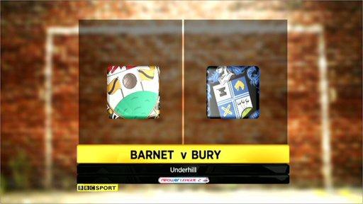 Barnet 1-1 Bury