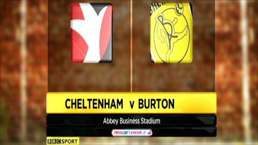 Cheltenham 2-1 Burton