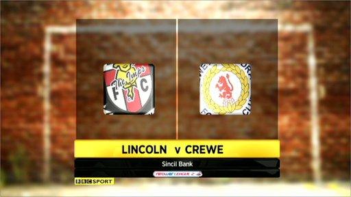 Lincoln 1-1 Crewe