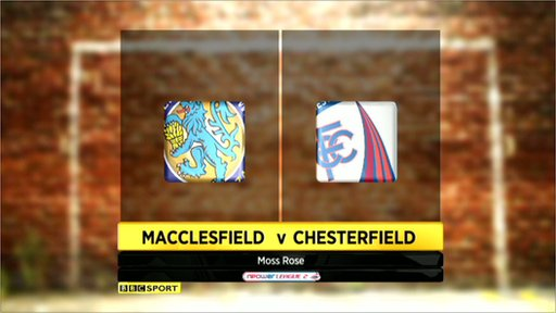 Macclesfield 1-1 Chesterfield