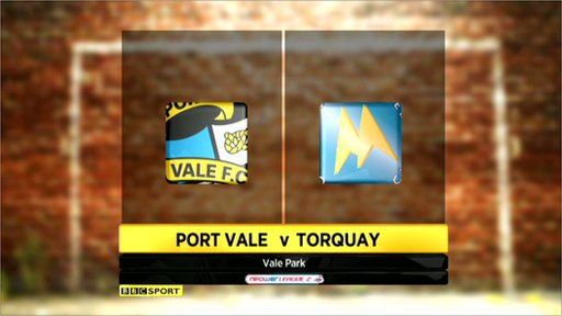 Port Vale 1-2 Torquay
