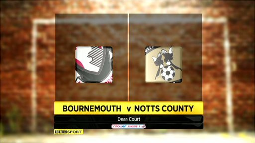 Bournemouth 3-3 Notts County