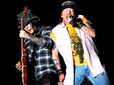 DJ Ashba and Axl Rose from Guns N&#039; Roses