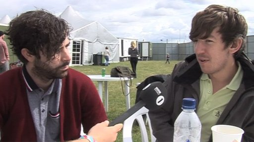 Yannis and Edwin from Foals