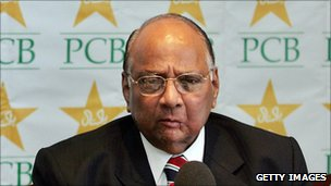 International Cricket Council president Sharad Pawar