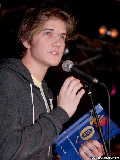 Bo Burnham with his 2010 panel prize