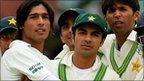 (L-R) Mohammad Amir, Salman Butt and Mohammad Asif