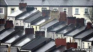 Rooftops in Newport, Wales