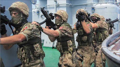 Marines in Montenegro take part in a training exercise