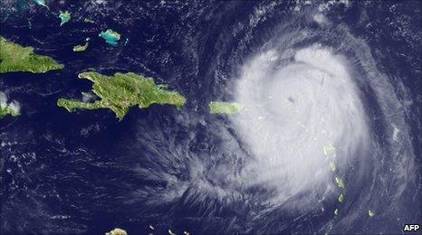 Hurricane Earl as seen from space (30 August 2010)