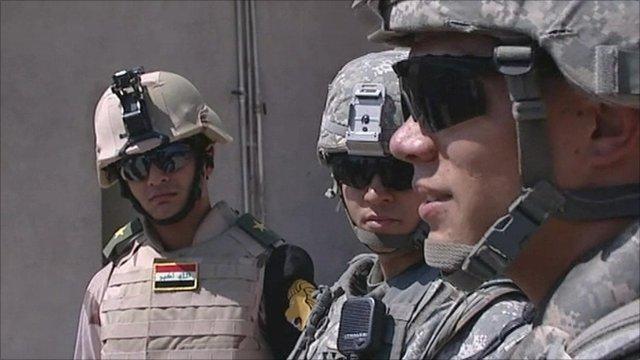 Joint US and Iraqi patrol