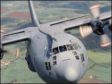 A Hercules in flight