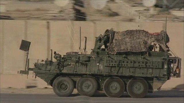 US military vehicle