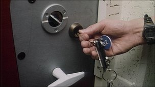 prison warden locks door