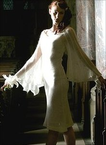Wool wedding dress
