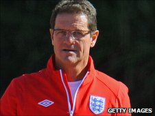 England coach Fabio Capello