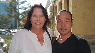 Robyn Garner and Otgonbaatar Tsedendemberel