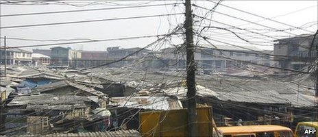 Electricity cables in Lagos