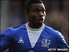 Joseph Yobo in action for Everton