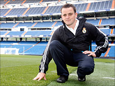 Real Madrid's groundsman Paul Burgess says growing grass in Madrid is difficult