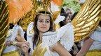 Girl in costume. Photo: Mikio Oba