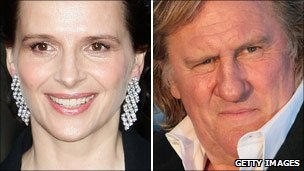 Juliette Binoche and Gerard Depardieu