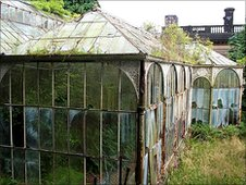 Victorian conservatory at Wentworth Castle
