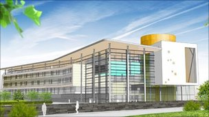 Concept art of new Inverness College