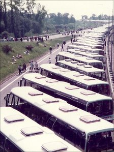 Buses in 1982 for the Coventry event