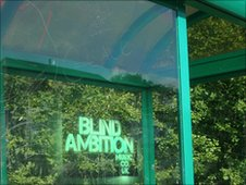 Blind Ambition bus stop graffiti