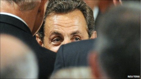 File photograph of French President Nicolas Sarkozy