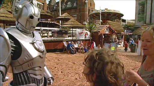 Cyberman in Old Market Square