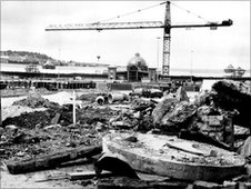 Building work at Meadowhall in 1989