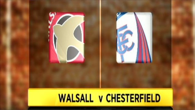 Walsall 1-2 Chesterfield